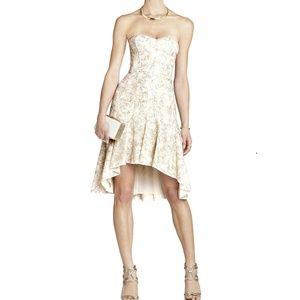 BCBG MAXAZRIA Bryleigh Strapless Sequined Lace#344